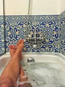 Azulejos lindos no banheiro